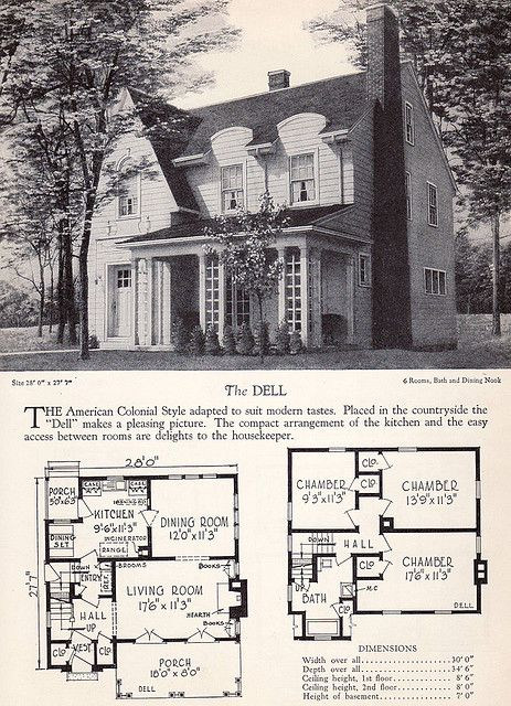 1928 Home Builders Catalog  The Dell in 2019  Houses English  English Inspired  House plans