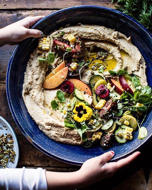 Farmers Market Hummus via @feedfeed on https://thefeedfeed.com/hummus/halfbakedharvest/farmers-market-hummus
