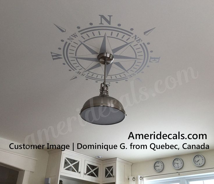 Ceiling Medallion Compass Rose DECAL Nautical Beach Decor Removable Graphic  Art Vinyl up to 6 ft diameter - lamp or chandelier - Best 25+ Beach Style Ceiling Medallions Ideas On Pinterest Beach