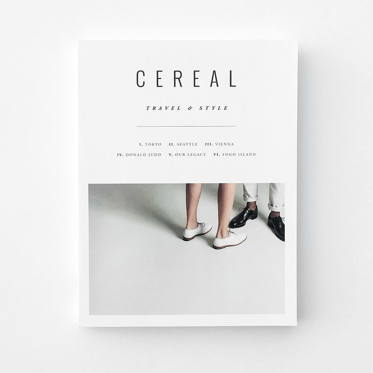 The Cereal Magazine is a twice-a-year travel and lifestyle publication that features a collection of striking photographs of people, places and products from around the world. Every volume also featur