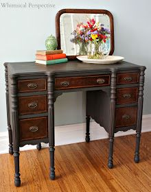 Graphite Grey - love this!  Might want to put this on my 'maybe' list for my mahogany furniture