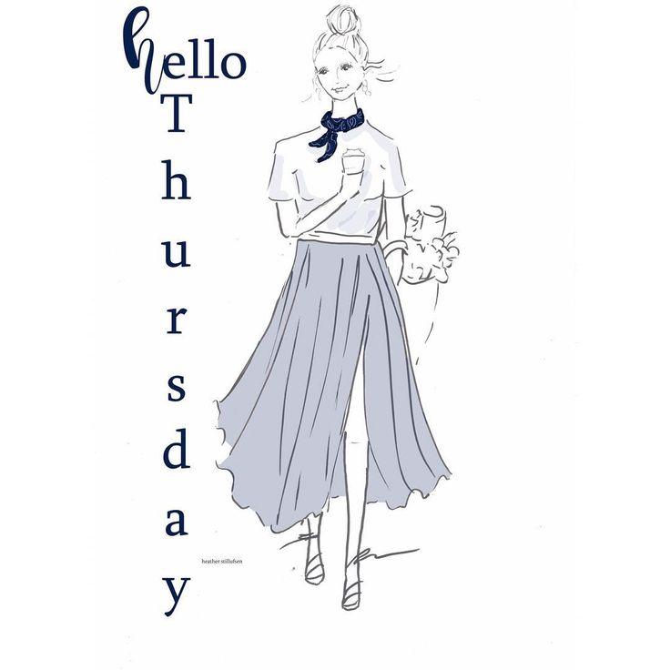 Hello #Thursday ☕️☕️ #coffee #almostfriday #illustration