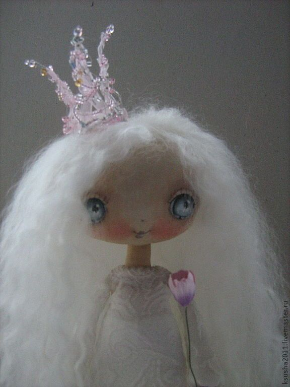 Купить Принцесска )) - белый, авторская кукла, кукла оксаны дадиани, кукла ручной работы