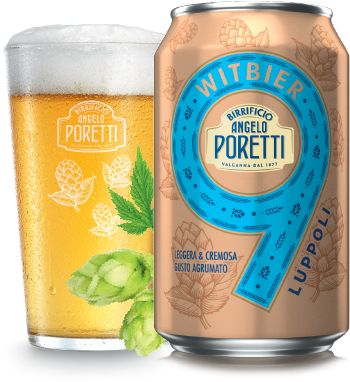 Birra Poretti Witbier 9 Luppoli  - Packaging Design by Robilant Associati #Can