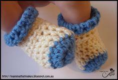 Crochet socks for preemies and full term babies: free #crochet pattern