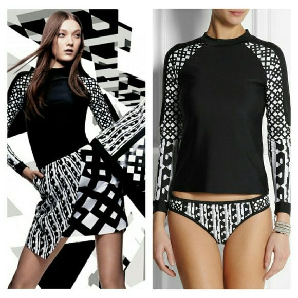 Peter Pilotto Black / White  Rash Guard Peter Pilotto for Target Black / White  Rash Guard. Versatile open back rash guard doubles as a top. NWT.  No trade or PP  Reasonable Offers Considered  Bundle discounts Peter Pilotto for Target Swim