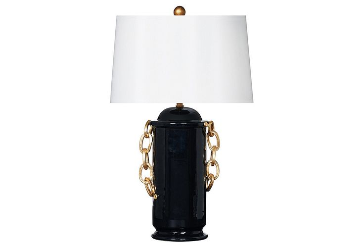 Nero Chanel Table Lamp, Black | Lighting by Bradburn | One Kings Lane