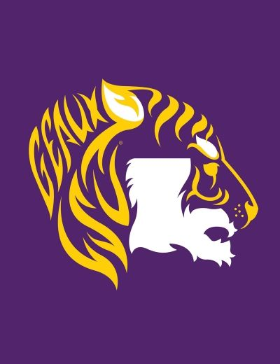 Geaux Tiger  -- art - LSU TIGERS - LSU TIGERS colors purple & gold - Louisiana State University