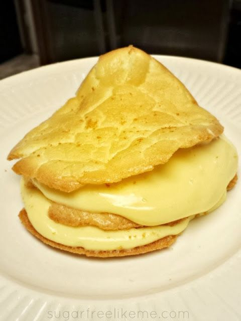 Sugar Free Low Carb Marshmallow Cream Puff