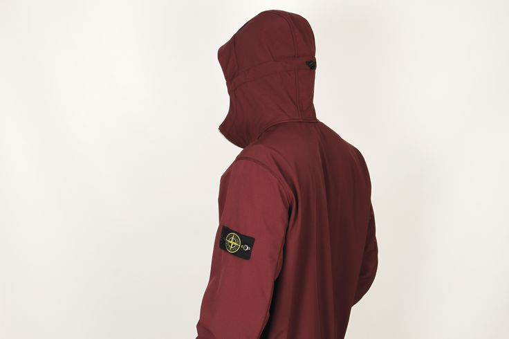 Stone Island Soft Shell Jacket in Maroon from the Autumn Winter 2017 Collection