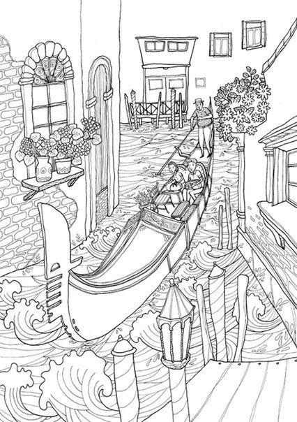 раскраска путешествие в италию скачать Drawings Coloring