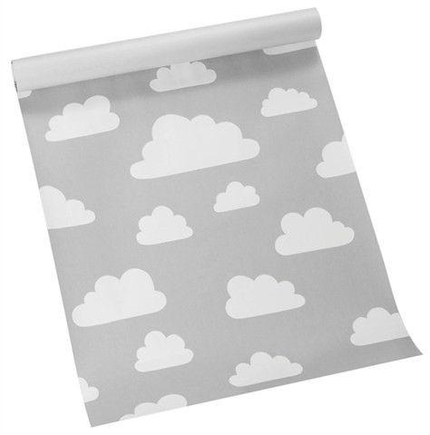 Behang Wolken - Grijs | Behang | Gras onder je voeten