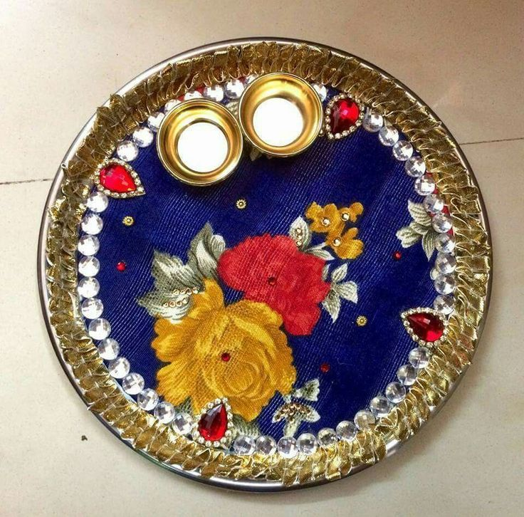 356 best images about pooja thali on pinterest henna for Aarti thali decoration with flowers