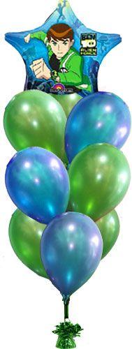 #Ben 10 #balloon decoration idea for boys parties