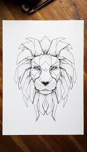 Znalezione obrazy dla zapytania lion geometric art