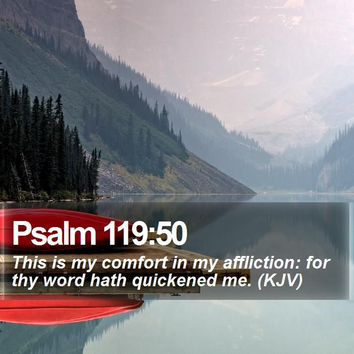 Psalm 119:50 This is my comfort in my affliction: for thy word hath quickened me. (KJV)  #Preaching #Christ #Shepherd #Priest #InstaGood #WordOfWisdom http://www.bible-sms.com/