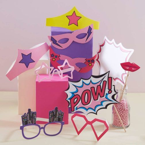 Superhéroe Pink » Mister & Miss Party #SuperPinkHero #ThematicParty #FunParty #Party #PinkHero #KitPinkHero