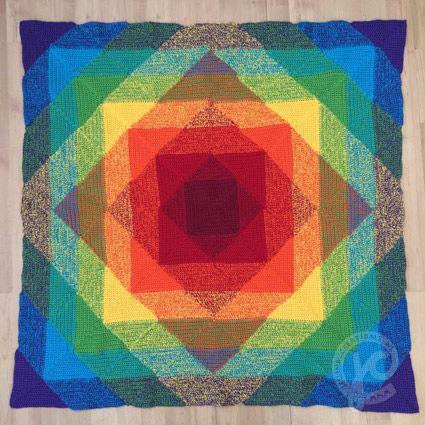 Häkelanleitung Rainbow Blanket