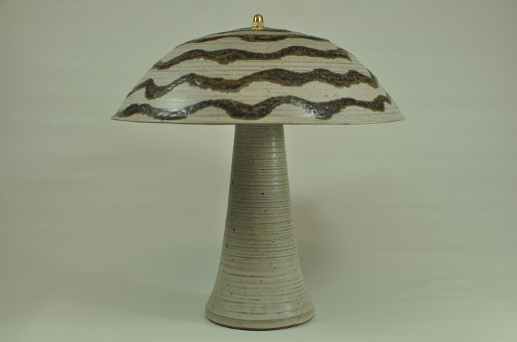 Lamp -all stoneware - with LED-light