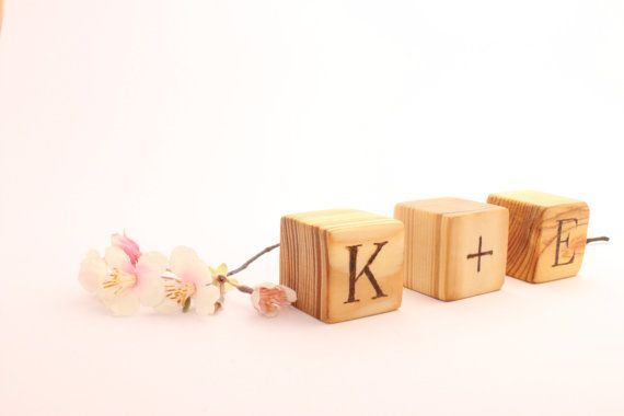 Personalized Wood Blocks. 158 in cube. Wooden by WoofWoofWood