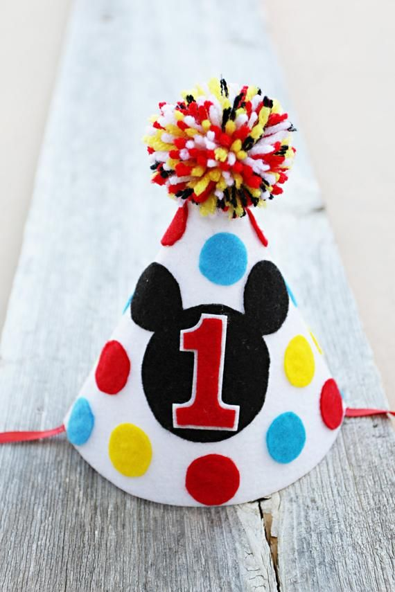 Boys Mickey Mouse Clubhouse 1st Birthday Party Hat