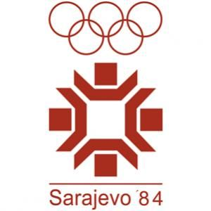 Official Olympic games logo for 1984 Sarajevo games.