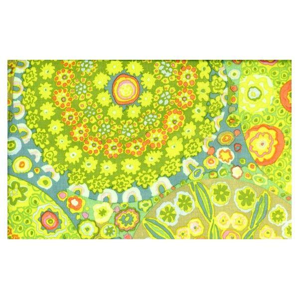 Tissu Millefiore green