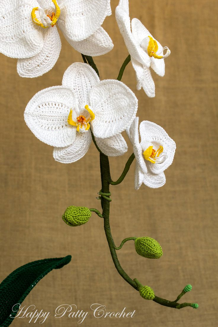 106 best orchids crochet images on pinterest crochet flower orchid moth phal pattern by happy patty crochet ccuart Gallery