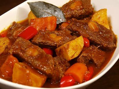 Filipino-Beef-Mechado-recipe #Tastebudladies #Beef