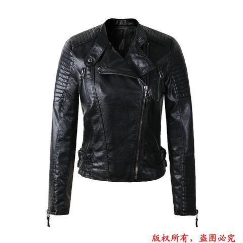 2016 New Fashion Autum/ Winter WOMANS LEATHER MOTORCYCLE JACKET - SA boutique Shop
