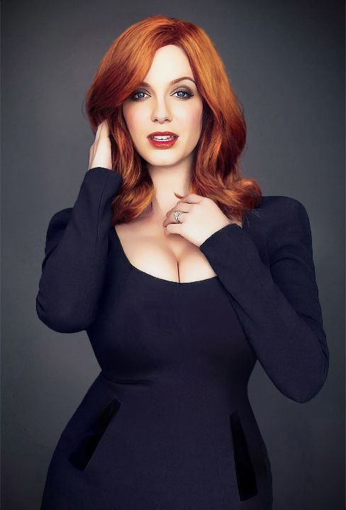 Christina Hendricks by Joe Pugliese for The Hollywood Reporter, 2012