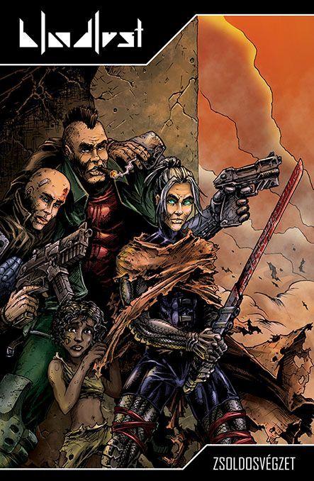 Bloodlust: Cryweni történetek antológia - Zsoldosvégzet képregényborító