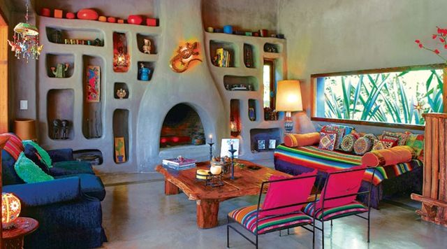 perfect mexican house: Decor, Cob Home, Dream, Mi Casa, Color, Cob House, Living Room, Fireplace