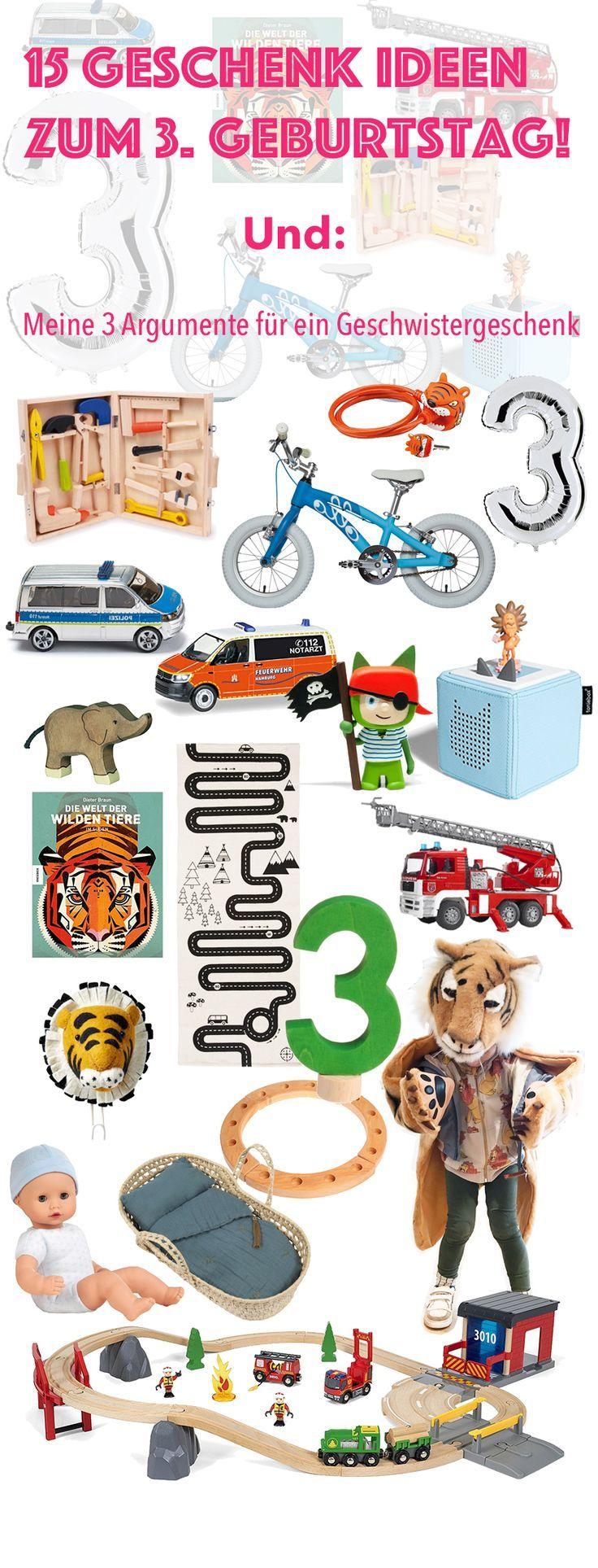Schöne Geschenk Ideen zum dritten Geburtstag für einen Jungen
