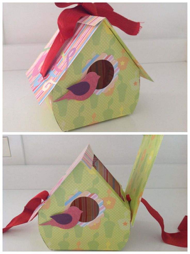 A cute birdhouse box for kids to keep their goodies inside. You can find the template at www.zoe-paperbliss.blogspot.co.uk.
