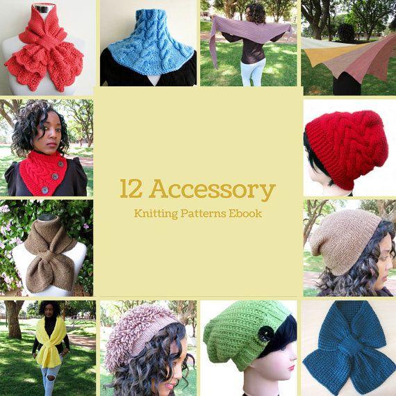 12 Accessory Knitting Patterns Ebook  by BiggerthanlifeKnits