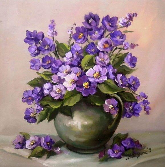 Martisor in violet. Tablou de Anca Bulgaru