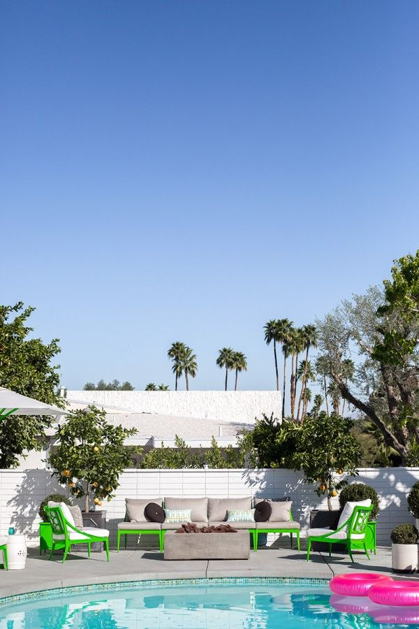 17 best ideas about green outdoor furniture on pinterest for Palm springs modern furniture