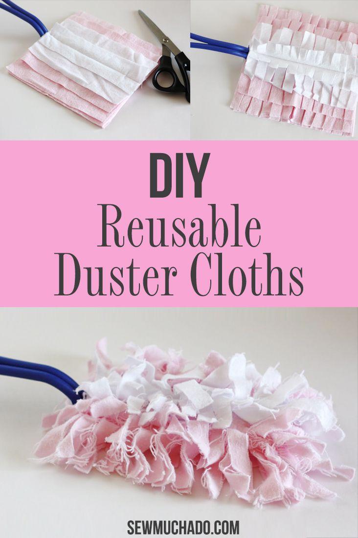 Reusable Swiffer Duster Cloths Tutorial