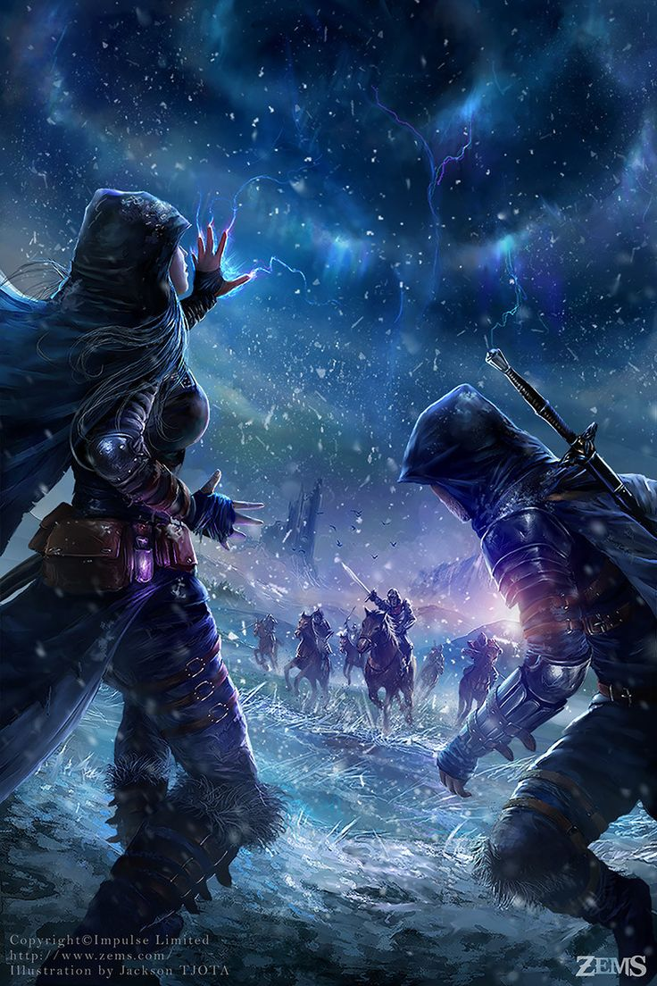Zems - Blizzard, Jackson Tjota on ArtStation at https://www.artstation.com/artwork/zems-blizzard / magicians / magic / wizzards / witches