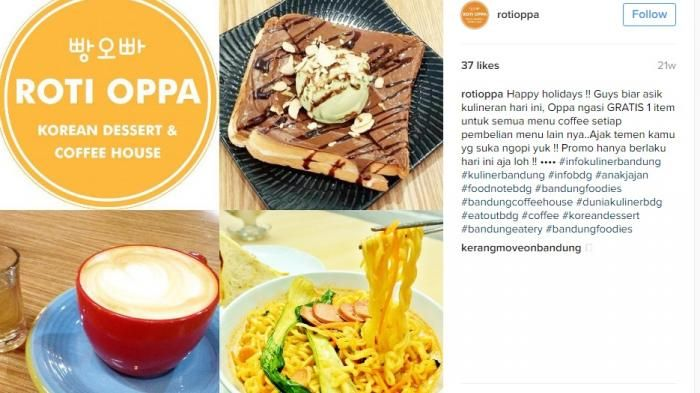Roti Oppa Bandung - Biar Makin Hits, Gantung Fotomu di Cafe ala Korea Ini