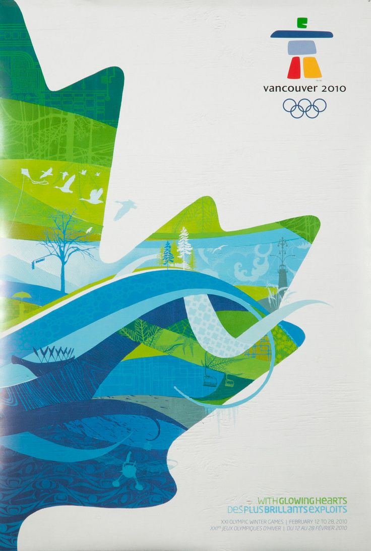 Poster design vancouver - Vancouver 2010 Olympics Poster Official Poster Of The Winter Games Canada New