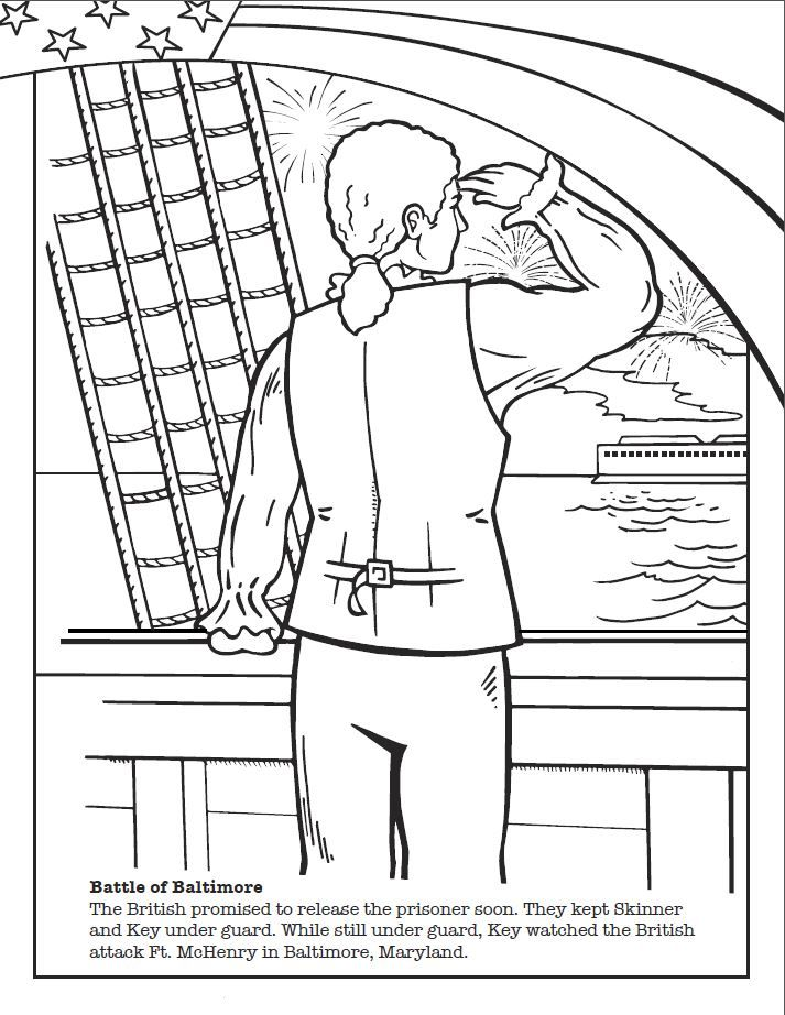 Star Spangled Banner Coloring Pages