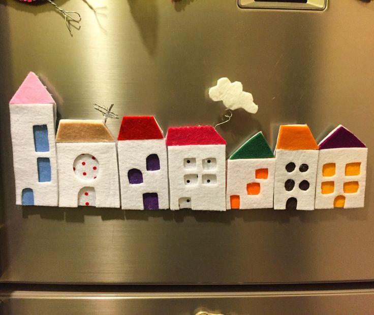 keçe, keçe ev, keçe ev magnet,magnet, keçe magnet, felr, feltro, felt house