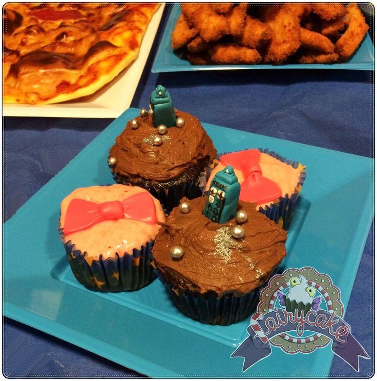 Cupcake TARDIS ,Bowties are cool