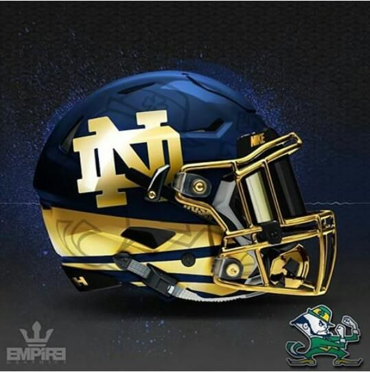 Works ND prototype helmet     ND fan? Please come visit us at https://www.facebook.com/HereComestheIrish the #1 ND fan page on Facebook