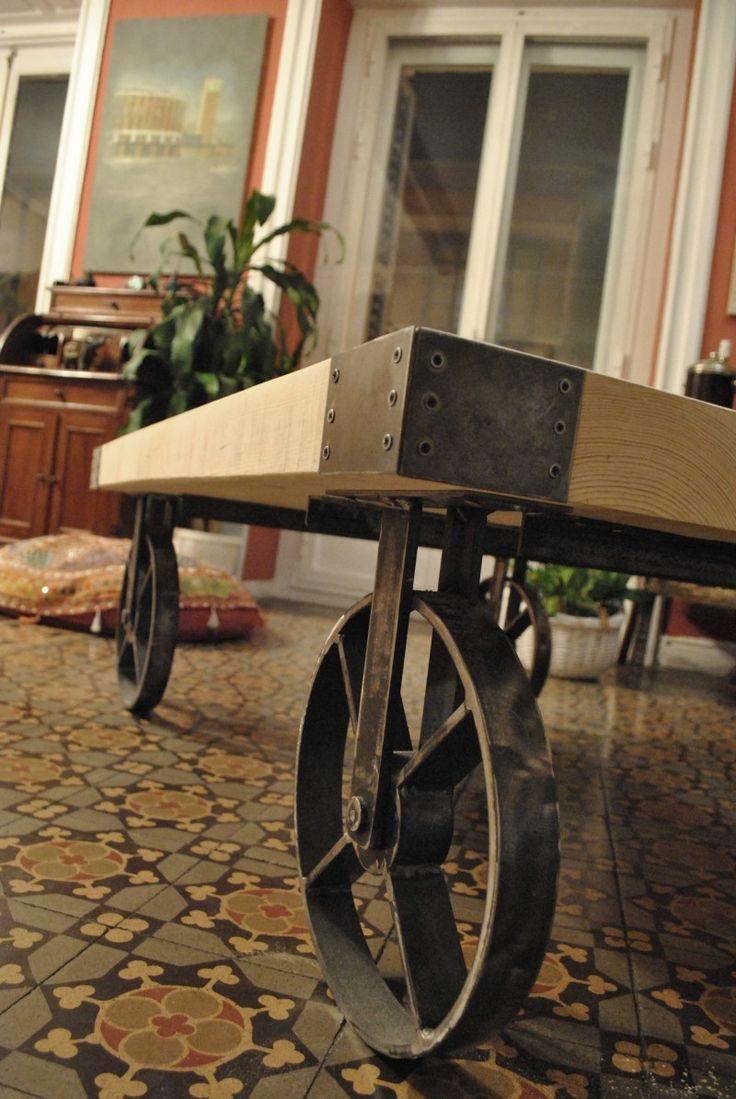 Mesa Dise O Industrial 42cm Consolas Y Muebles Para Tv