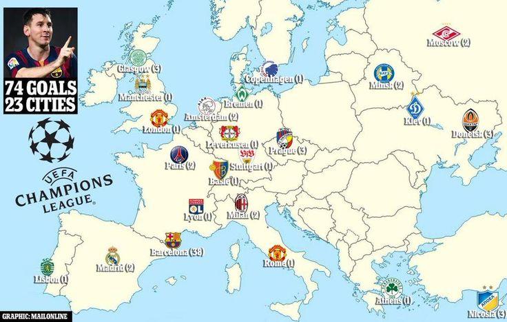 74 goals in 23 cities