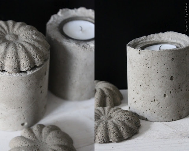DIY: concrete candle holders