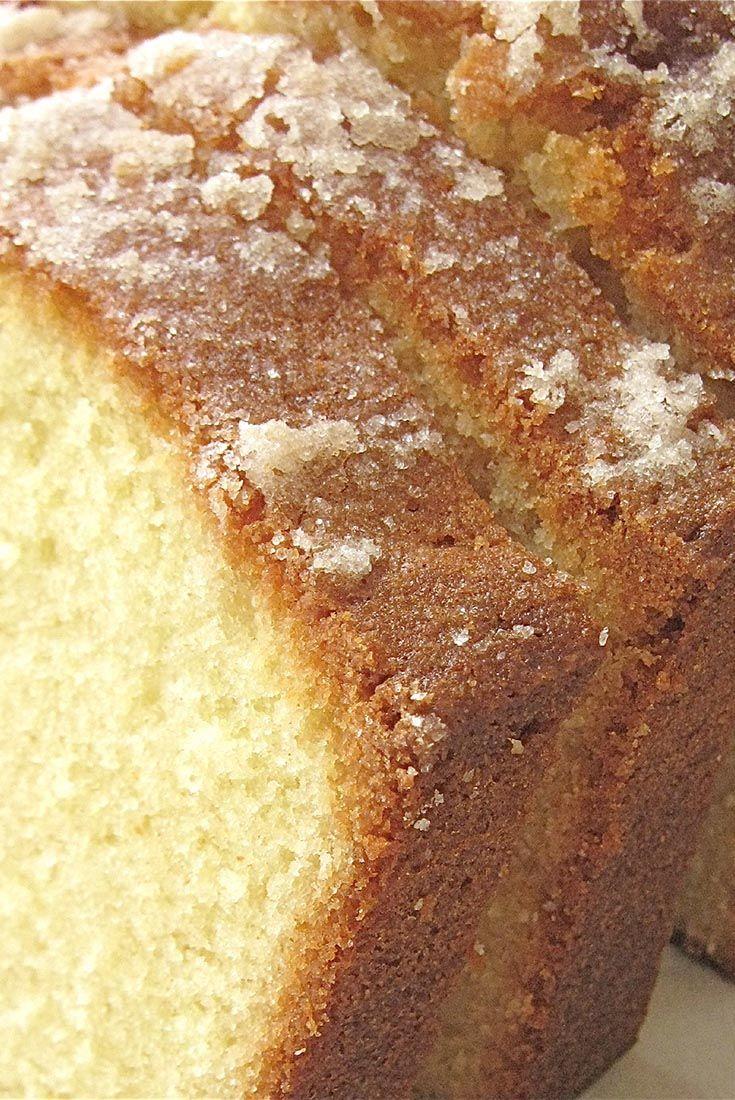 Golden Vanilla Pound Cake Recipe